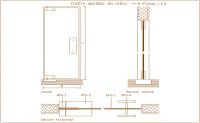 Folding door design view, horizontal & vertical section ...