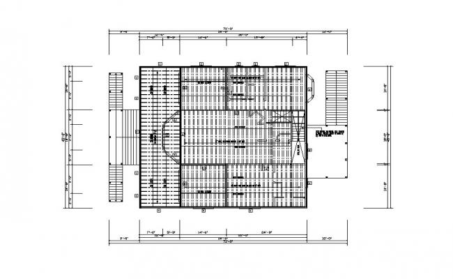 Ground floor framing plan of house cad drawing details dwg