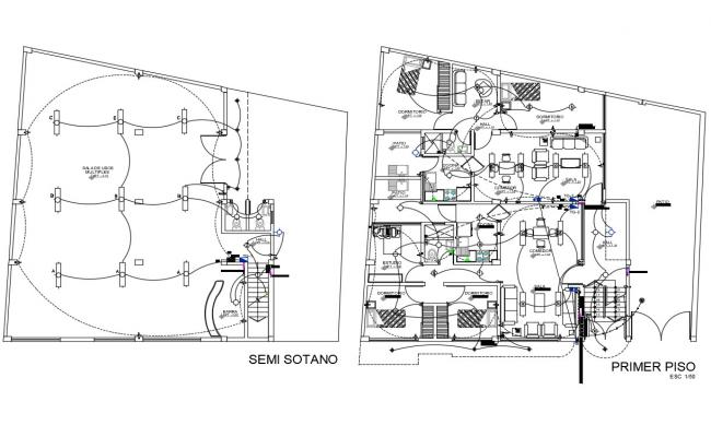 Club house electrical layout drawing detail in dwg AutoCAD