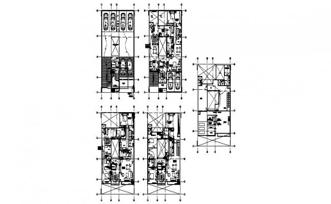 House floor layout plan and electrical layout plan cad