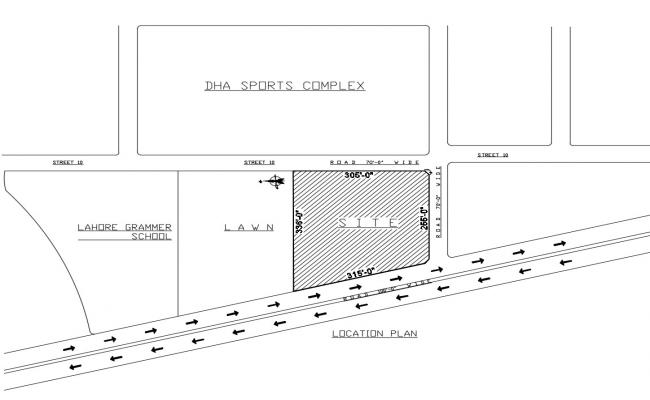 Key plan location layout of school
