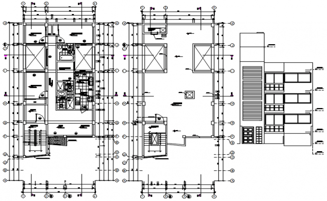Multiple housing distribution plan and electrical layout