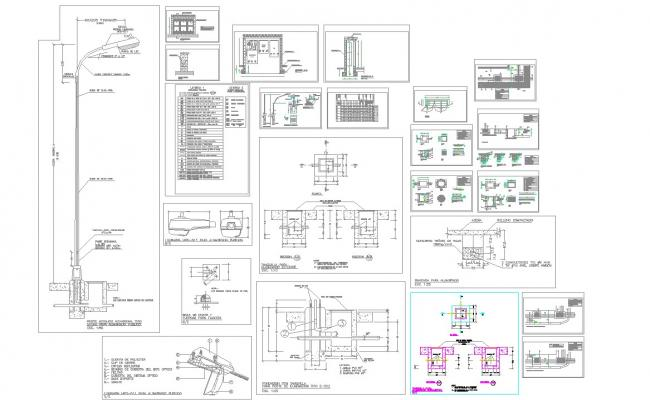 Publiclighting detail and drawing in autocad dwg files