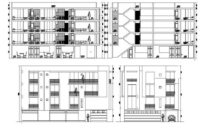 3 bhk autocad plan free download, 3 BHK Apartment plan