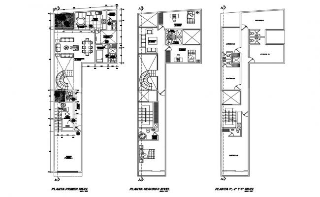 Residential apartment building floor plan layout cad
