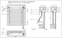 Rolled shutter door design view with plan and sectional ...