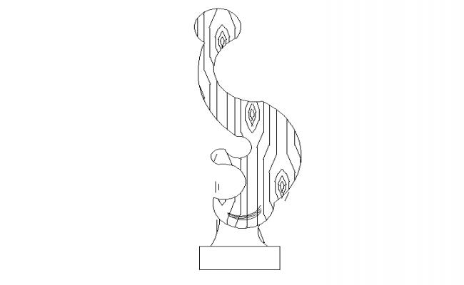 Sculpture plan dwg, Sculpture Art drawing in autocad dwg