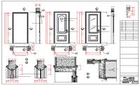 Single door installation details with door elevation dwg file