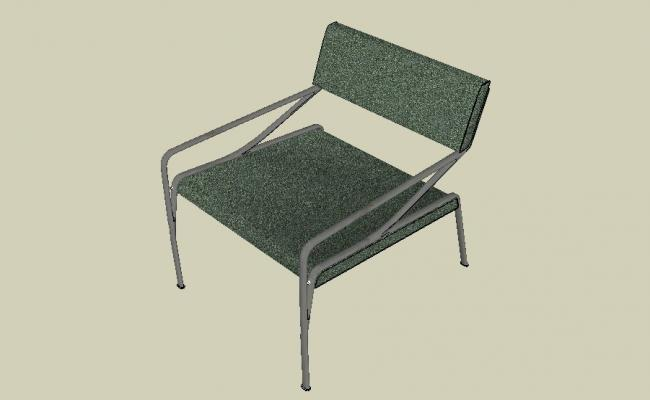 office chair elevation cad block wal mart chairs single 3d details skp file