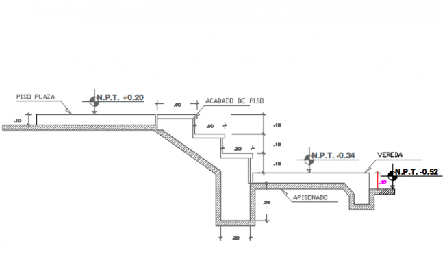 Stair plan, elevation detail and section detail dwg