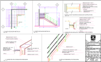 Steel structure staircase detail cad files