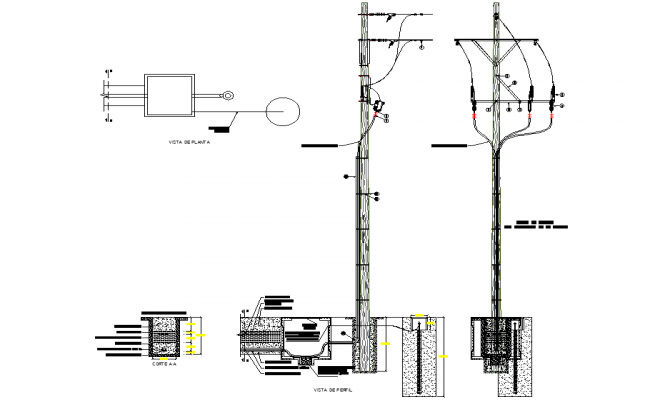Cut floor ceiling raster metal construction details dwg file
