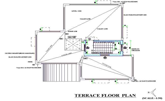 One family house detailed architecture project cad drawing