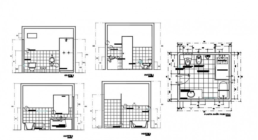 Bedroom and drawing room elevation 2d view autocad file