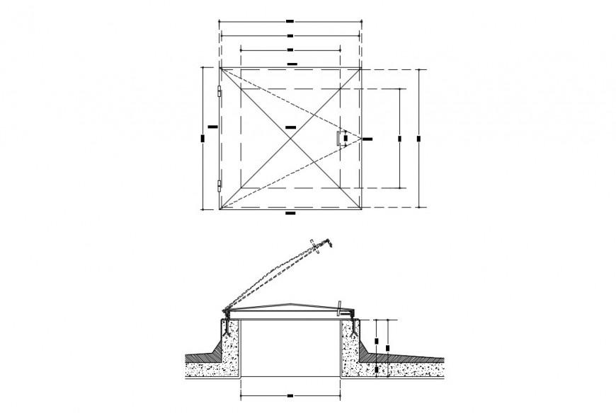 Sanitary installation, plumbing and irrigation drawing