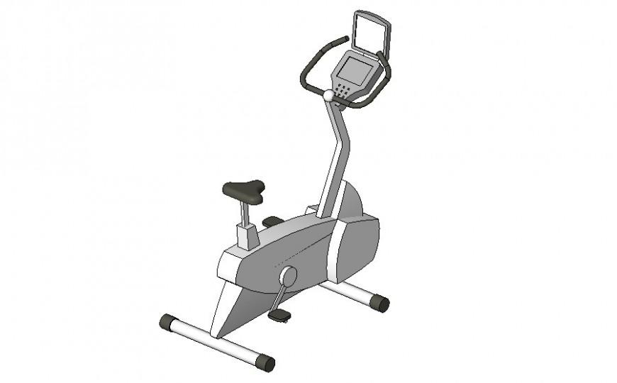 Glute ham machine detail 2d view CAD gym equipment block