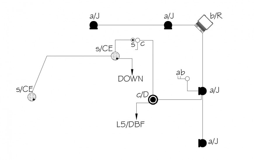 Electrical installation plan of classroom area with
