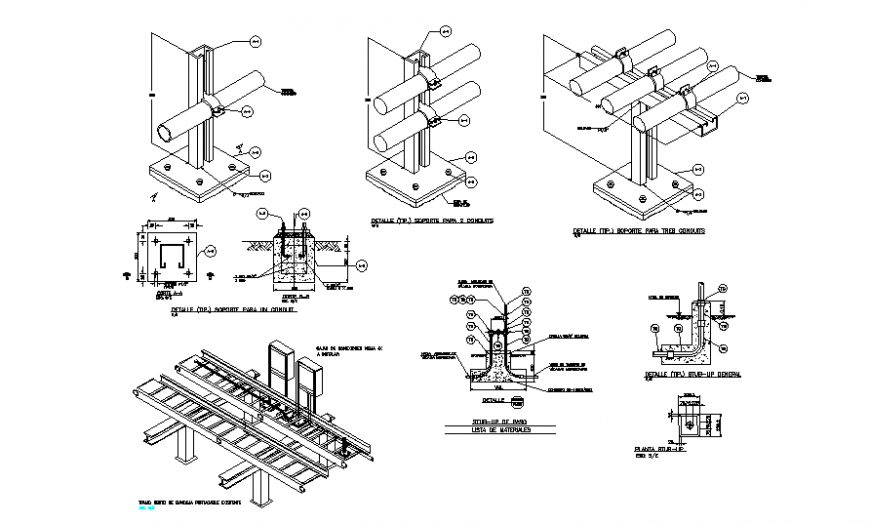CAd drawings details of front and back elevation of air