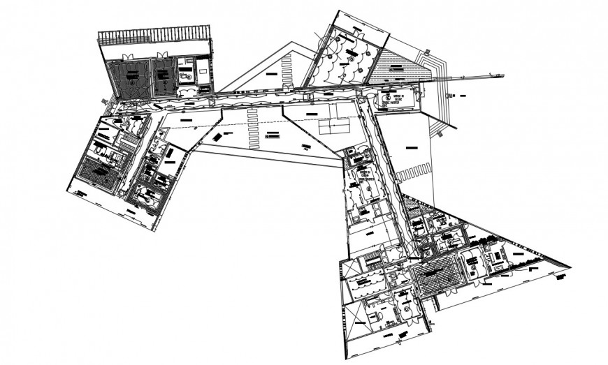 Residential building electrical plan layout detail dwg