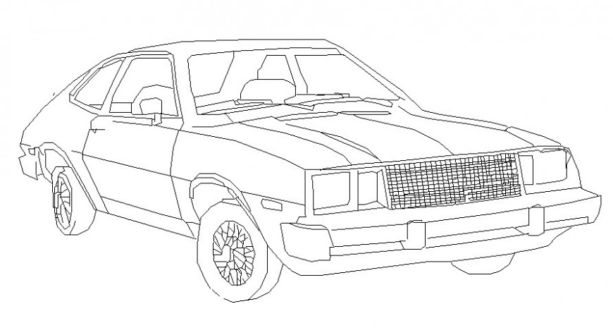 Drawing of vehicle elevation 2d view transportation units