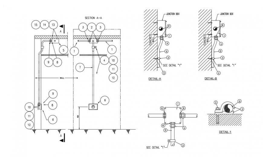 Double shot switch mca electrical fitting layout cad