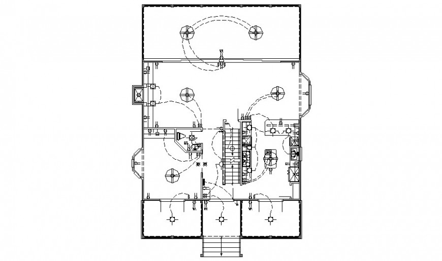CAD detailing drawings of light fitting electrical