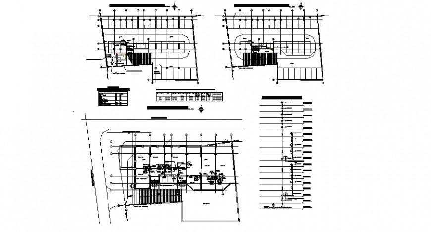 Septic tank section, plan, soak away system and plumbing