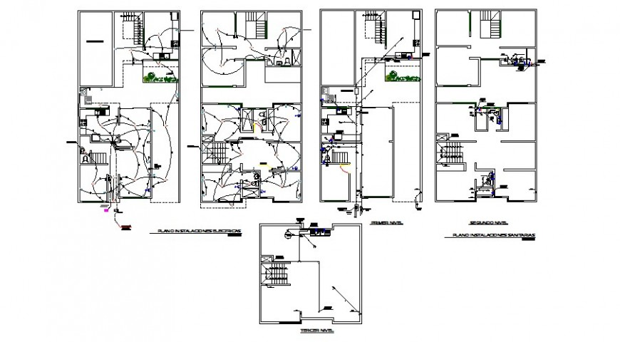 Electrical installation layout plan details of house three