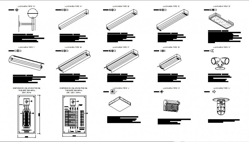 Drawing of HVAC installation standard details in AutoCAD