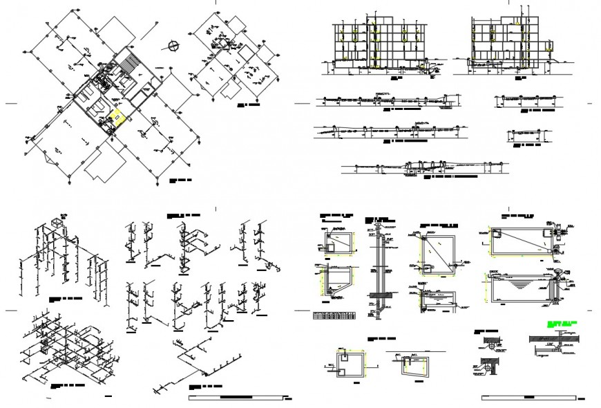 Electrical layout plan details of residential floor cad