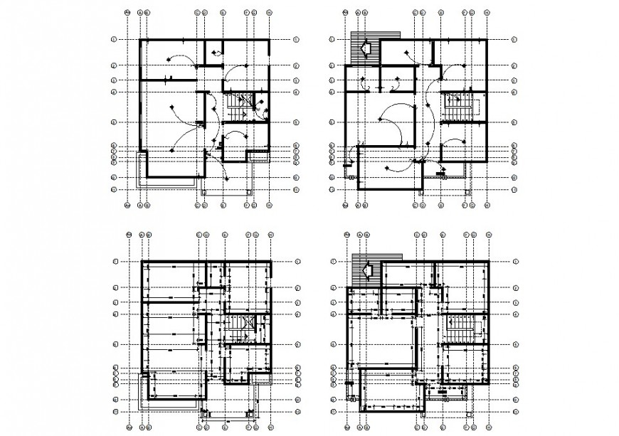 Electrical layout plan of a collage drawing in dwg AutoCAD