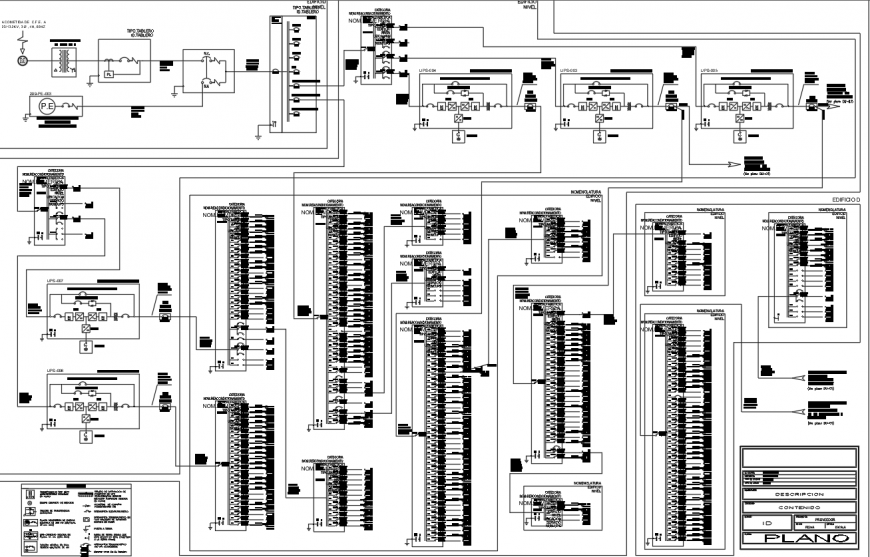 Basement electrical layout plan drawing details for office