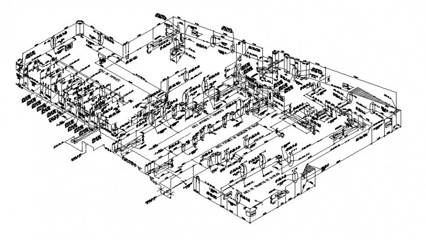 Corporate building, Power layout with all detail and
