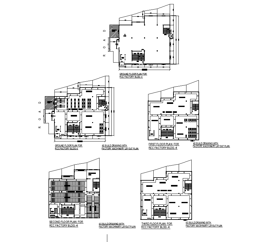 Cold storage warehouse distribution plan cad drawing