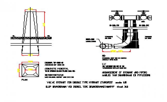 External elevation view, concrete fence panel door dwg file