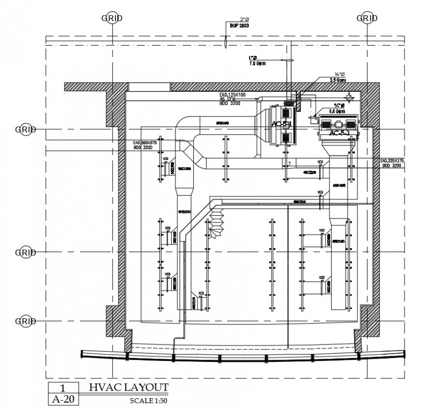 Beam schedule and constructive details of hotel building