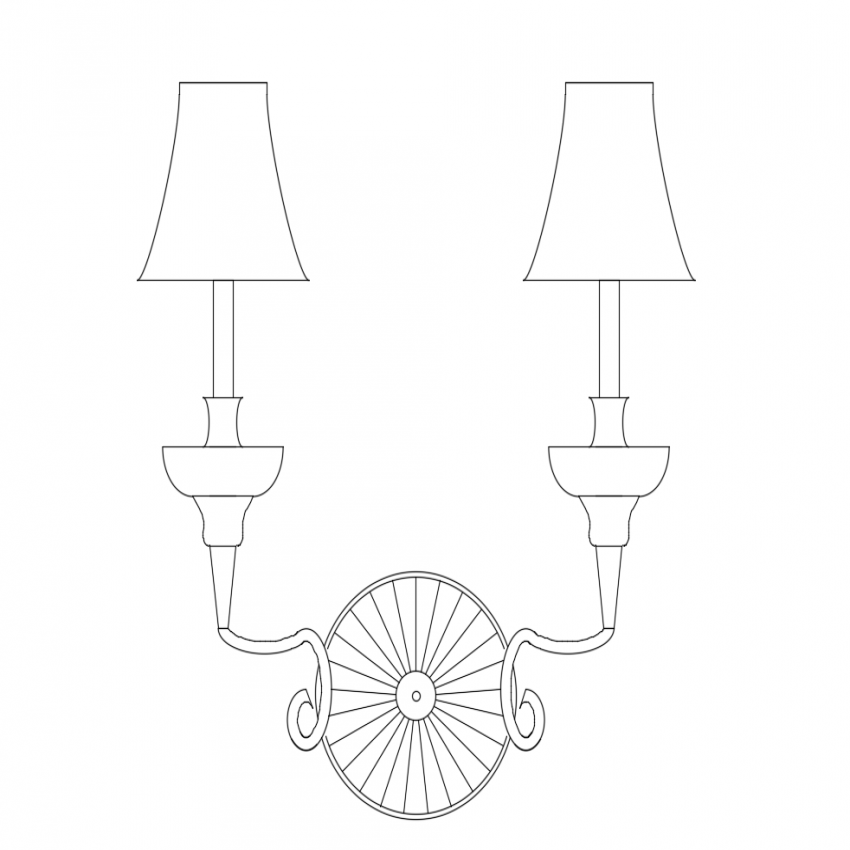 Lighting Fixture Installation In Wall And Slab Drawing DWG