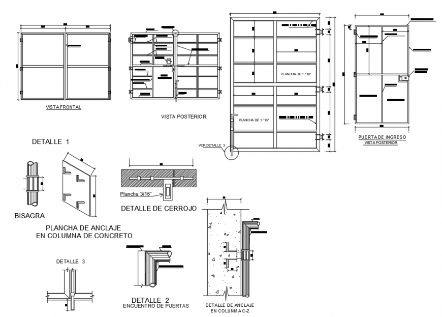 Plan and elevation of structure of tank in auto cad