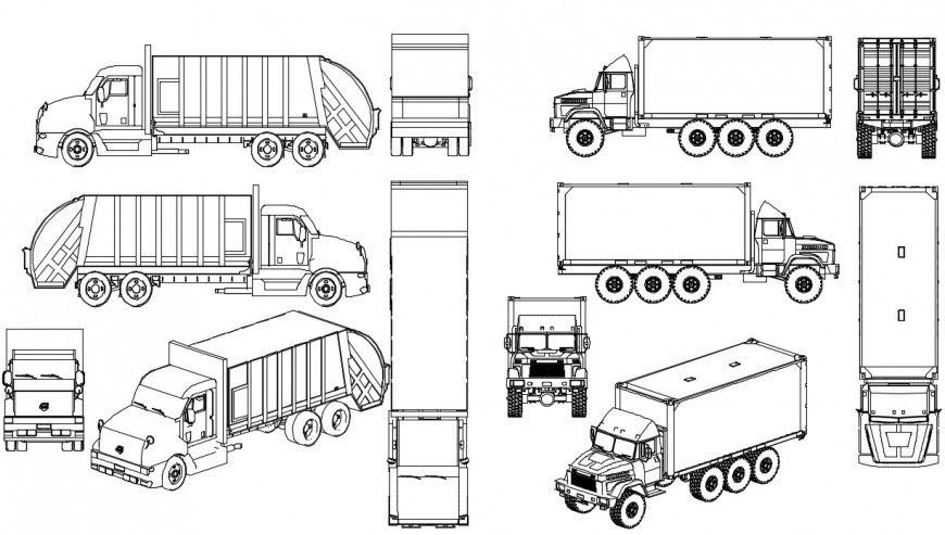 Tank detail 3d model vehicle block layout sketch-up file