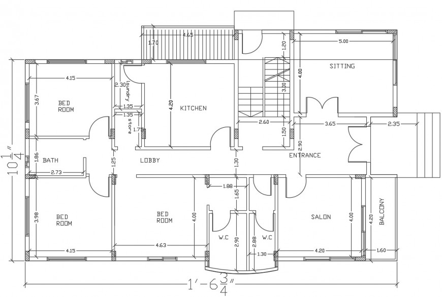 40'X70' Ten Various types of 2BHK House plan AutoCAD DWG