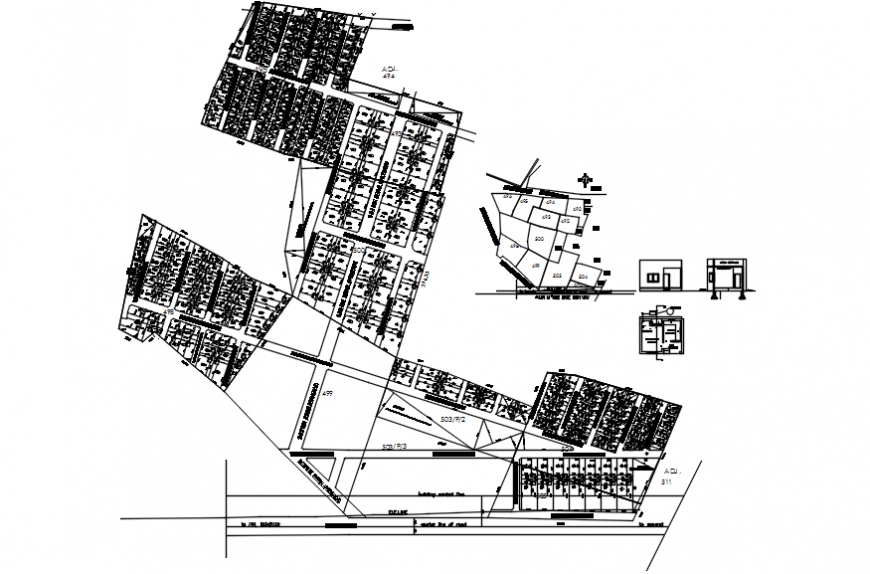 Solar panel structure and plan cad drawing details dwg