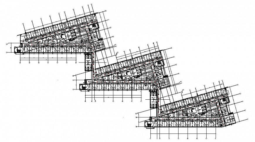 2D CAD Drawing Drainage Pipe Design For Roof AutoCAD File