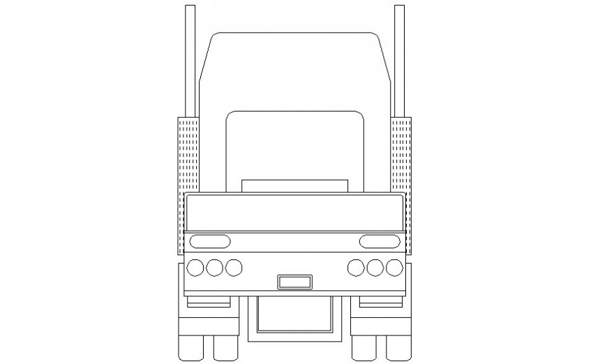 Car drawing of transportation units 2d view elevation of