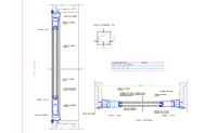 window and door section and section plan view detail dwg file