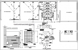 Bathroom and toilet architecture floor plan and detail