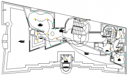 Electric installation details of street light pole dwg file