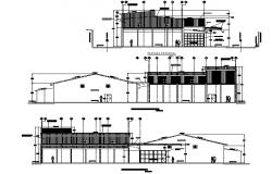 The powerhouse of a mini hydro-electric power plant plan