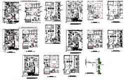 Library layout plan and Elevation design dwg file