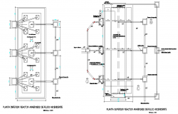 Sink installation details of bathroom dwg file