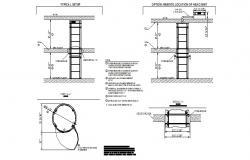 Steel stairs details dwg